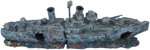 Vaisseau de Guerre Coulé - 57x12x19cm